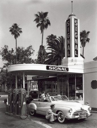 Gas Station, c.1950 Reproduction d'art