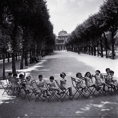 Children in the Palais-Royal Garden, c.1950 Art by Robert Doisneau