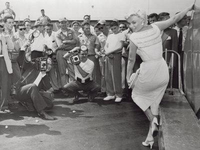 Marilyn Monroe Posing Art by Dan Mcelleney