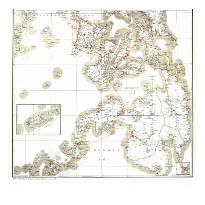 1902 Philippines Military Telegraph Lines South Map Prints by  National Geographic Maps