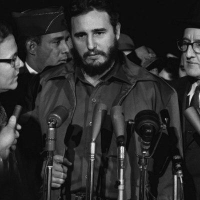 Fidel Castro Arrives Mats Terminal, Washington D.C. Photo by Warren K. Leffler