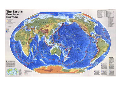The Earth's Fractured Surface Map