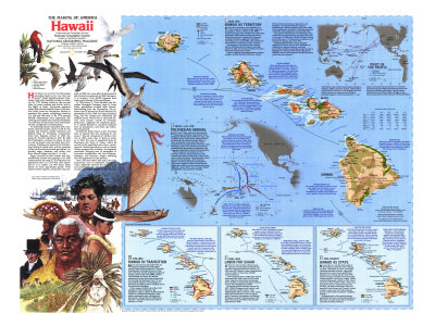 1983 The Making of America, Hawaii Theme Posters by  National Geographic Maps