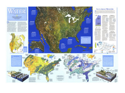 Water Resources Map, National Geographic