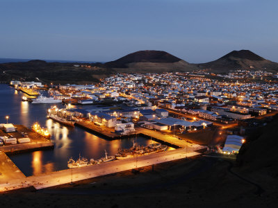A view of Vestmannaeyjar Harbor Photographic Print by Randy Olson