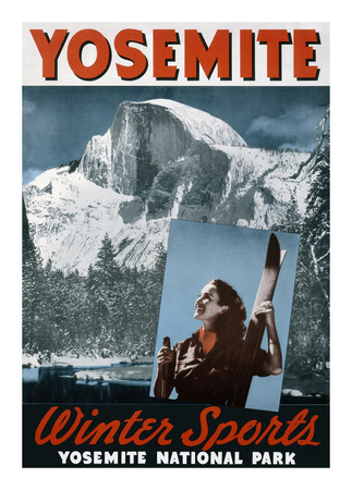 Yosemite, Winter Sports Poster