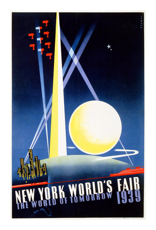 New York World's Fair, World of Tomorrow Láminas por Joseph Binder