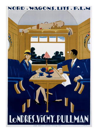 Nord-Wagons Lits-PLM Posters by Jean-raoul Naurac