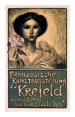 Franzosische Kunstausstellung zu Krefeld Print by Théophile Alexandre Steinlen