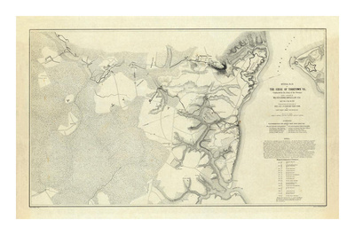 Civil War: Official Plan of The Siege of Yorktown Virginia, c.1862 Posters by Henry L. Abbot