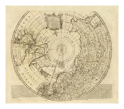 North Pole, c.1747 Print by Emanuel Bowen
