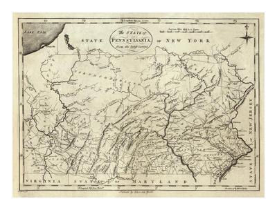 State of Pennsylvania, c.1796 Prints by John Reid