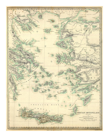 Grecian Archipelago, Ancient, c.1843 Posters by William Smith