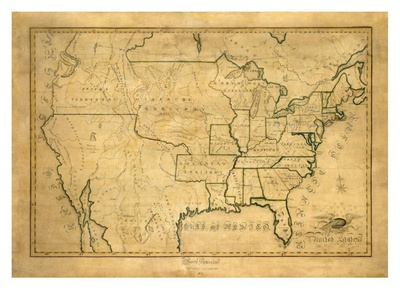 United States, c.1830 Posters by Maria Symonds