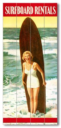 Surfboard Rentals Wood Sign