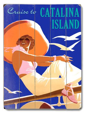 Cruise to Catalina Island Wood Sign