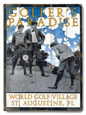 Golfer's Paradise Wood Sign