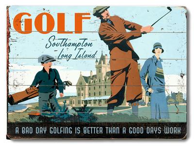 Golf Southampton Wood Sign