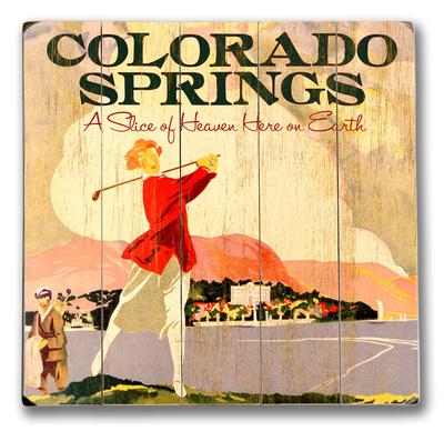 Colorado Springs Wood Sign