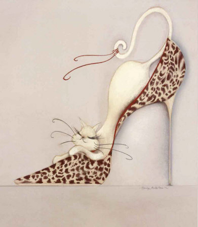 The Purrrfect Fit II Prints by Marilyn Robertson