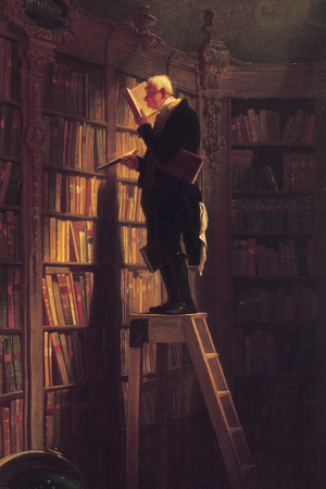 The Bookworm Premium Giclee Print by Carl Spitzweg