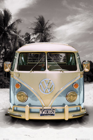 Californian Camper Poster