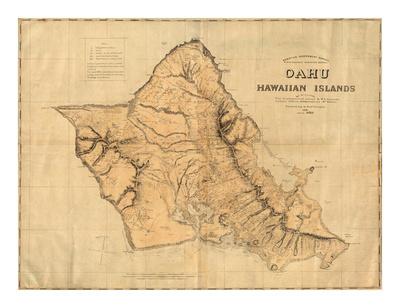 Oahu, Hawaiian Islands, c.1881 Prints