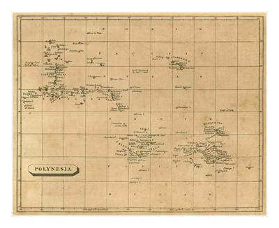 Polynesia, c.1812 Posters by Aaron Arrowsmith