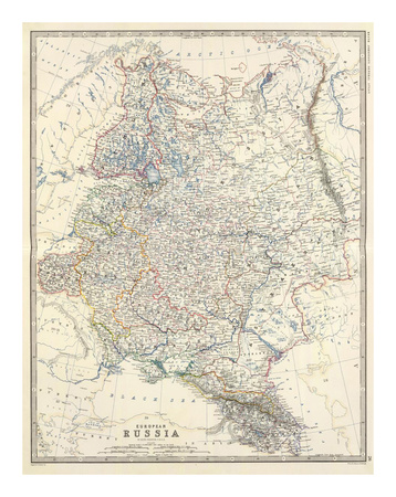Russia, European, c.1861 Prints by Alexander Keith Johnston