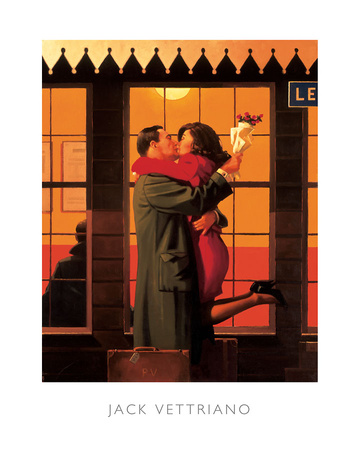 Back Where You Belong Prints by Jack Vettriano