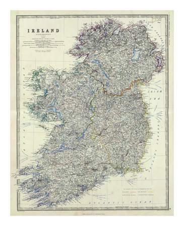Ireland, c.1861 Prints by Alexander Keith Johnston!