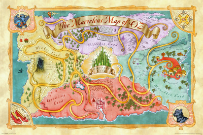 Marvelous Map of Oz Poster