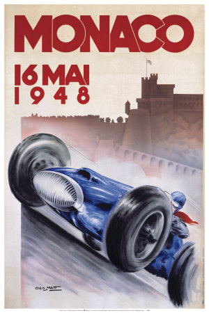 Monaco, May 1948 Art Print