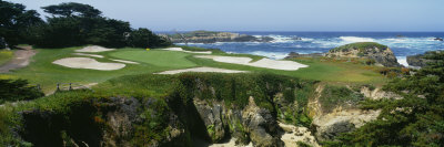 High Angle View of a Golf Course, Cypress Point Golf Course, Pebble Beach, California, USA Photographic Print by  Panoramic Images