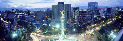 Mexico, Mexico City, El Angel Monument Fotografisk tryk af Panoramic Images,