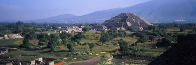Pyramid on a Landscape, Moon Pyramid, Teotihuacan, Mexico Photographic Print by  Panoramic Images