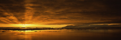 Sunrise over the Sea, Antarctica Photographic Print by  Panoramic Images