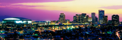 Phoenix Arizona Skyline Image at Dusk