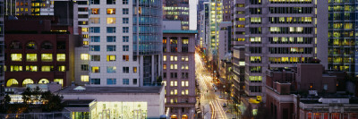 Buildings in a City, Hornby Street, Vancouver, British Columbia, Canada Photographic Print by  Panoramic Images