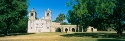 Facade of a Church, Mission Concepcion, San Antonio Missions National Historical Park, Texas, USA Photographic Print by  Panoramic Images