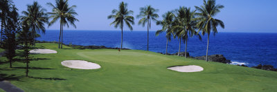 Golf Course at the Oceanside, Kona Country Club Ocean Course, Kailua Kona, Hawaii, USA Photographic Print by  Panoramic Images