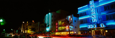 Art Deco Architecture Miami Beach, FL Photographic Print by  Panoramic Images