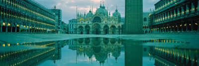 Reflection of a Cathedral on Water, St. Mark's Cathedral, St. Mark's Square, Venice, Veneto, Italy Photographic Print by  Panoramic Images