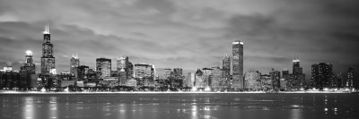 Buildings at the Waterfront, Chicago, Illinois, USA Photographic Print by  Panoramic Images
