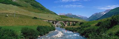 Railway Bridge Switzerland Photographic Print by  Panoramic Images