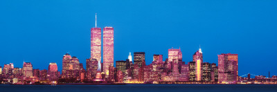 Evening Lower Manhattan New York, NY Photographic Print by  Panoramic Images