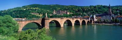 Karl-Theodor Bridge Heidelberg Germany Photographic Print by  Panoramic Images