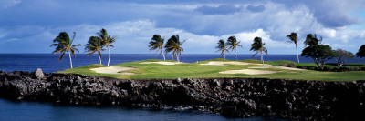 Golf Course at the Seaside, Hawaii, USA Photographic Print by  Panoramic Images