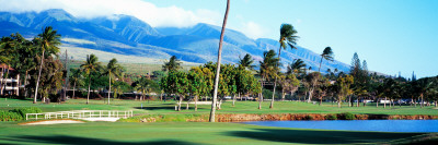 Kanapali Golf Course Maui, HI Photographic Print by  Panoramic Images