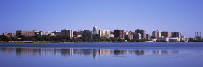 Buildings at the Waterfront, Lake Monona, Madison, Dane County, Wisconsin, USA Photographic Print by  Panoramic Images
